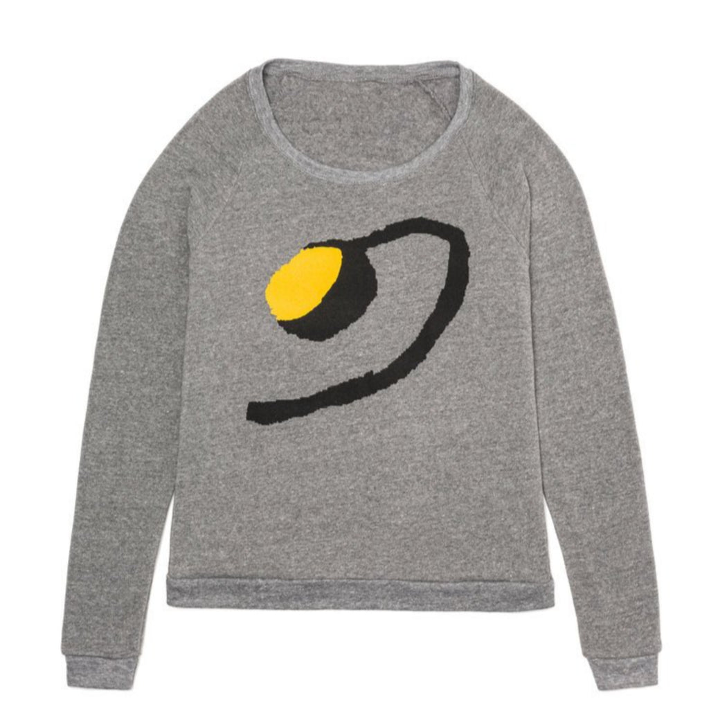 Djenné Wahala Art, grey women's sweatshirt