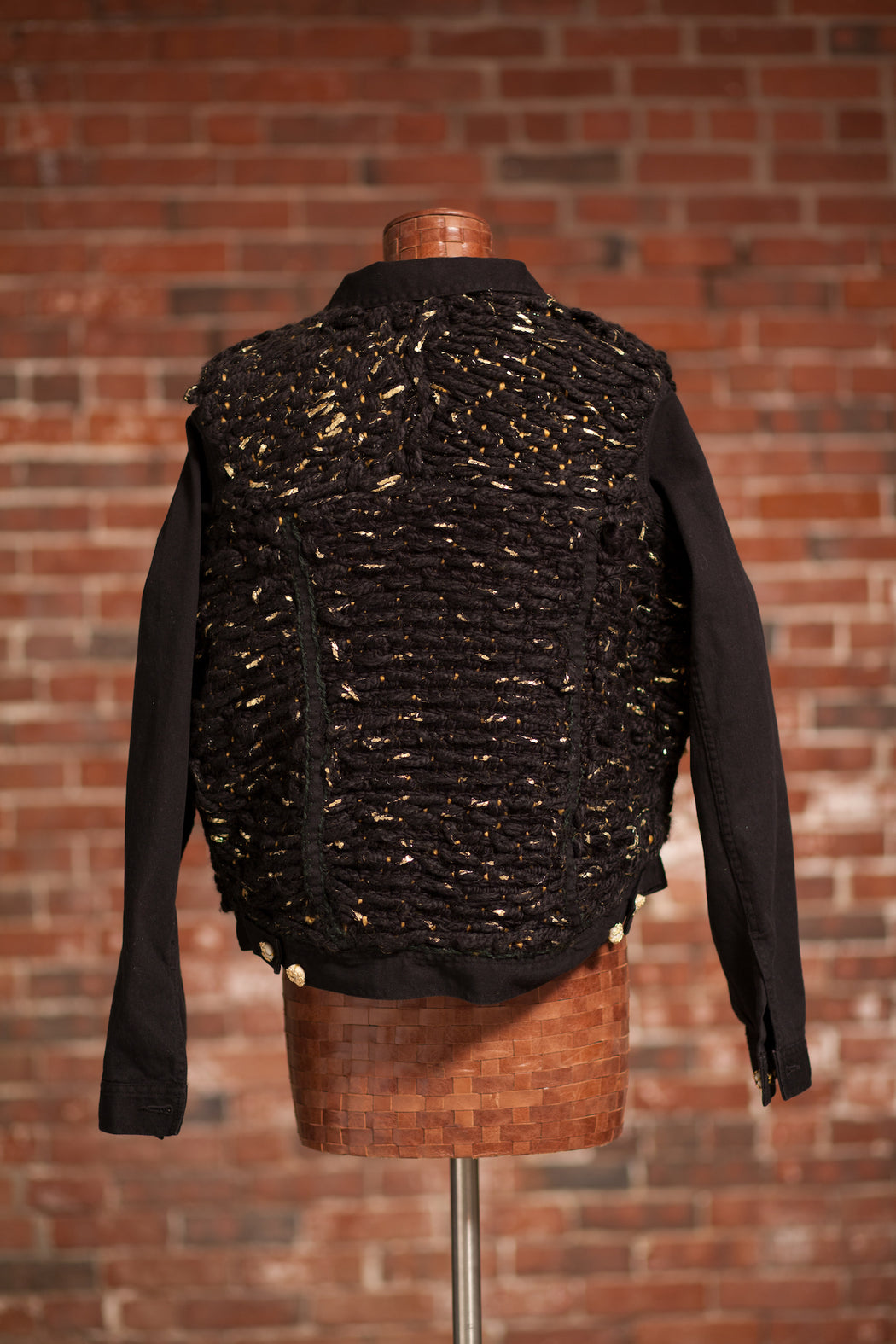Artisanal Collection Bourya Boury Black Denim Jacket back