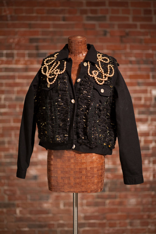 Artisanal Collection Bourya Boury Black Denim Jacket front
