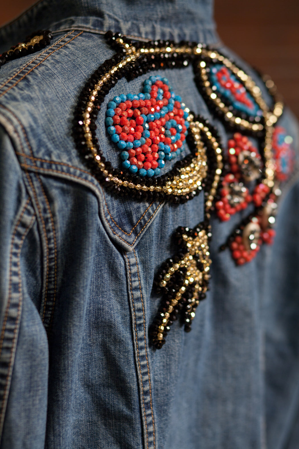 Artisanal Collection Allal II Denim Jacket back shoulder detail