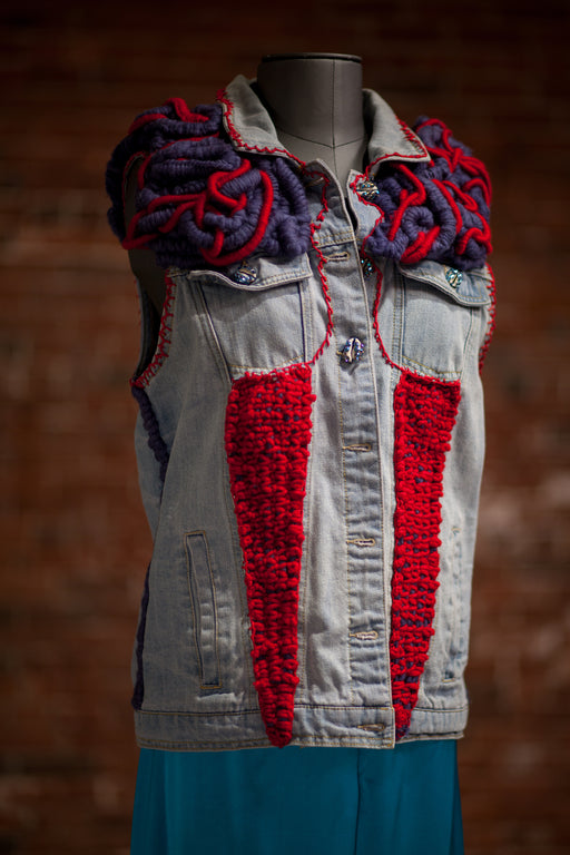 Artisanal Collection Boulilla Denim Vest front