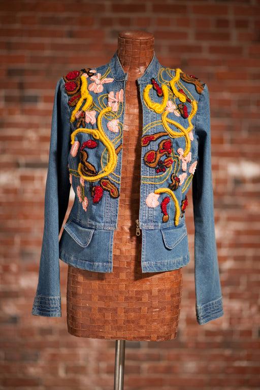 Artisanal Collection Chbakrou II Denim Jacket front