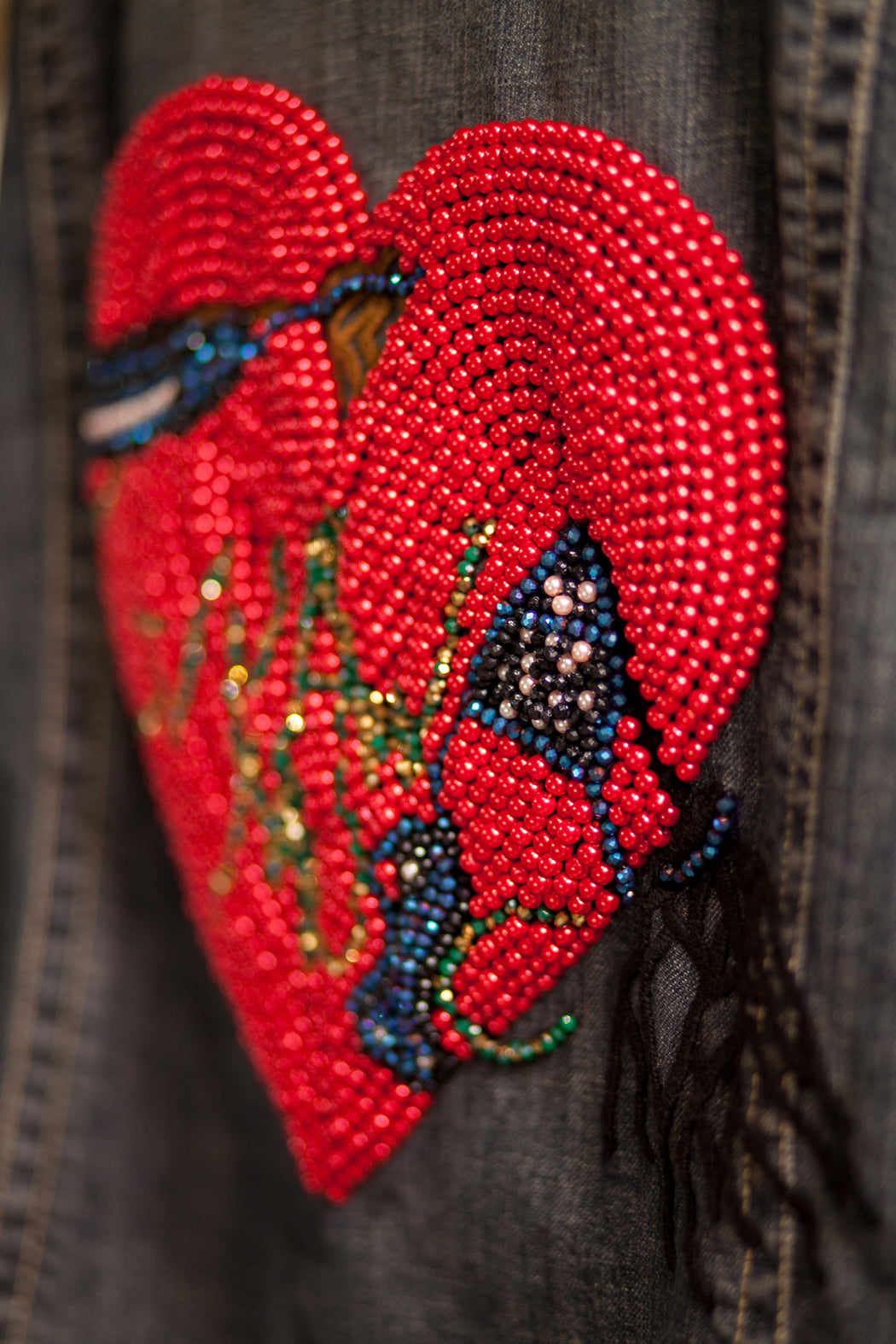 Artisanal Collection Ya Moulana II Denim Jacket back detail