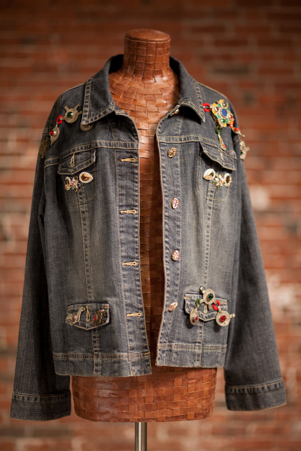 Artisanal Collection Ya Moulana II Denim Jacket front