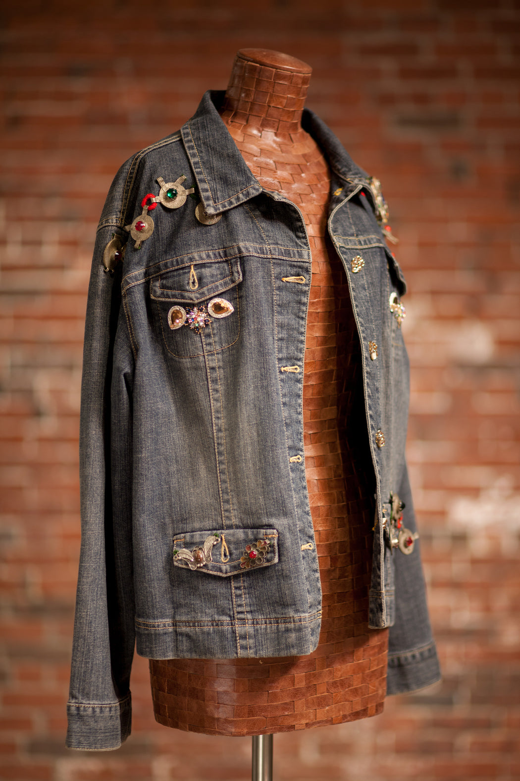 Artisanal Collection Ya Moulana II Denim Jacket front angle