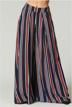 Load image into Gallery viewer, Stiped Wide Skirt Pants