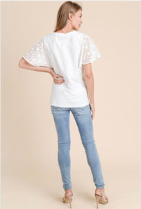 Stich Cotton Sleeve T-Shirt