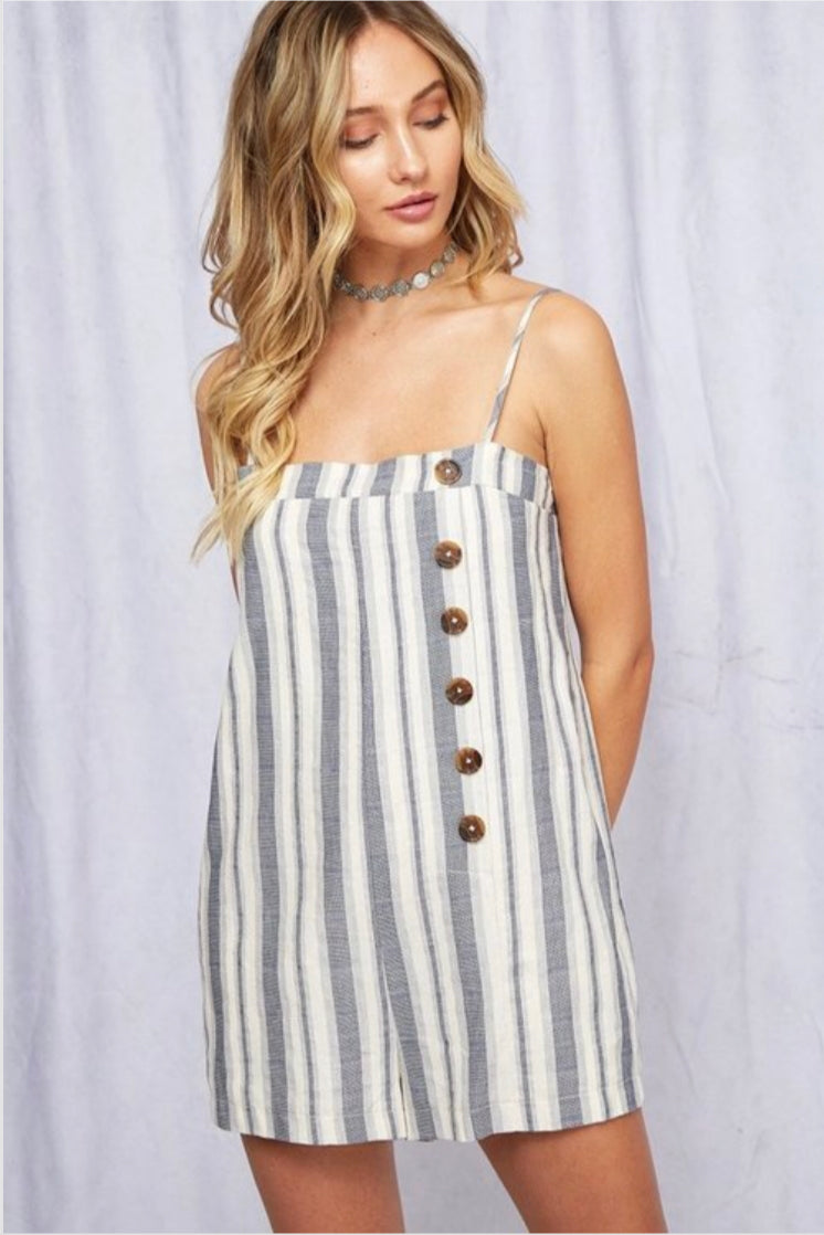 Striped Cami Romper