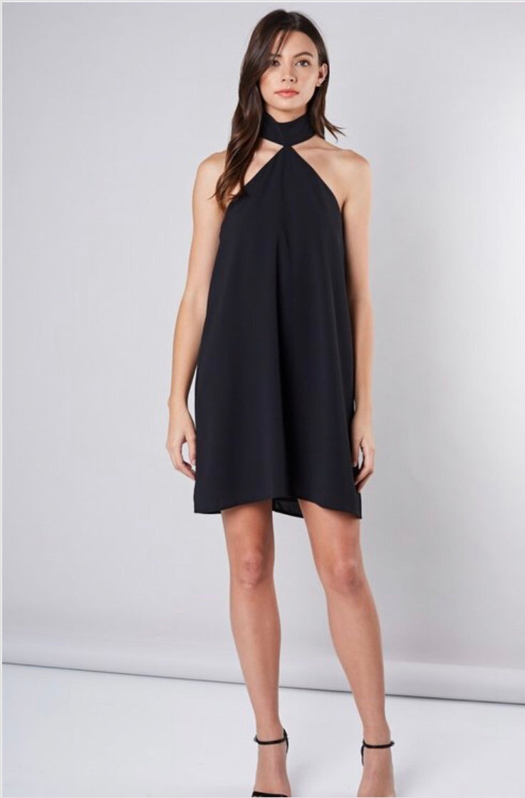 Little Black Halter Dress