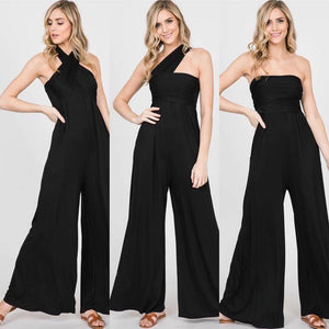 Black Four Ways Jumpsuit