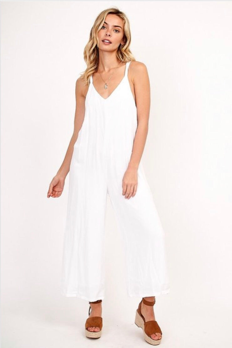 White Relaxed Jumpsuit