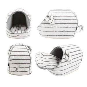 Earish Cozy Cat House - Gray - Critters Outfitters
