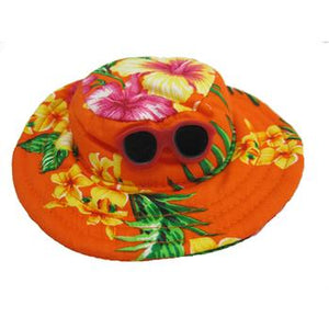 Hawaiian Dog Hat - Orange - Critters Outfitters