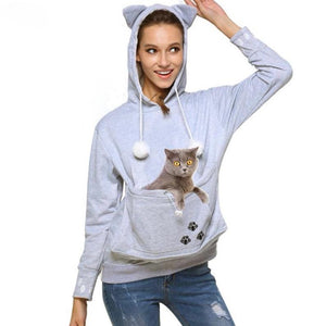 Cat Eared Pouch Sweatshirt - Critters Outfitters