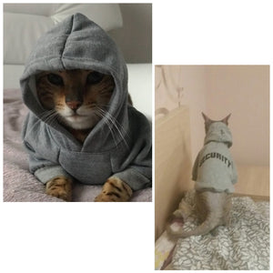 Security Cat Hoodie - Critters Outfitters