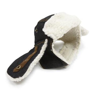Trapper Dog Hat - Black Denim - Critters Outfitters