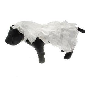 Wedding Dog Dress Costume with Veil - Critters Outfitters