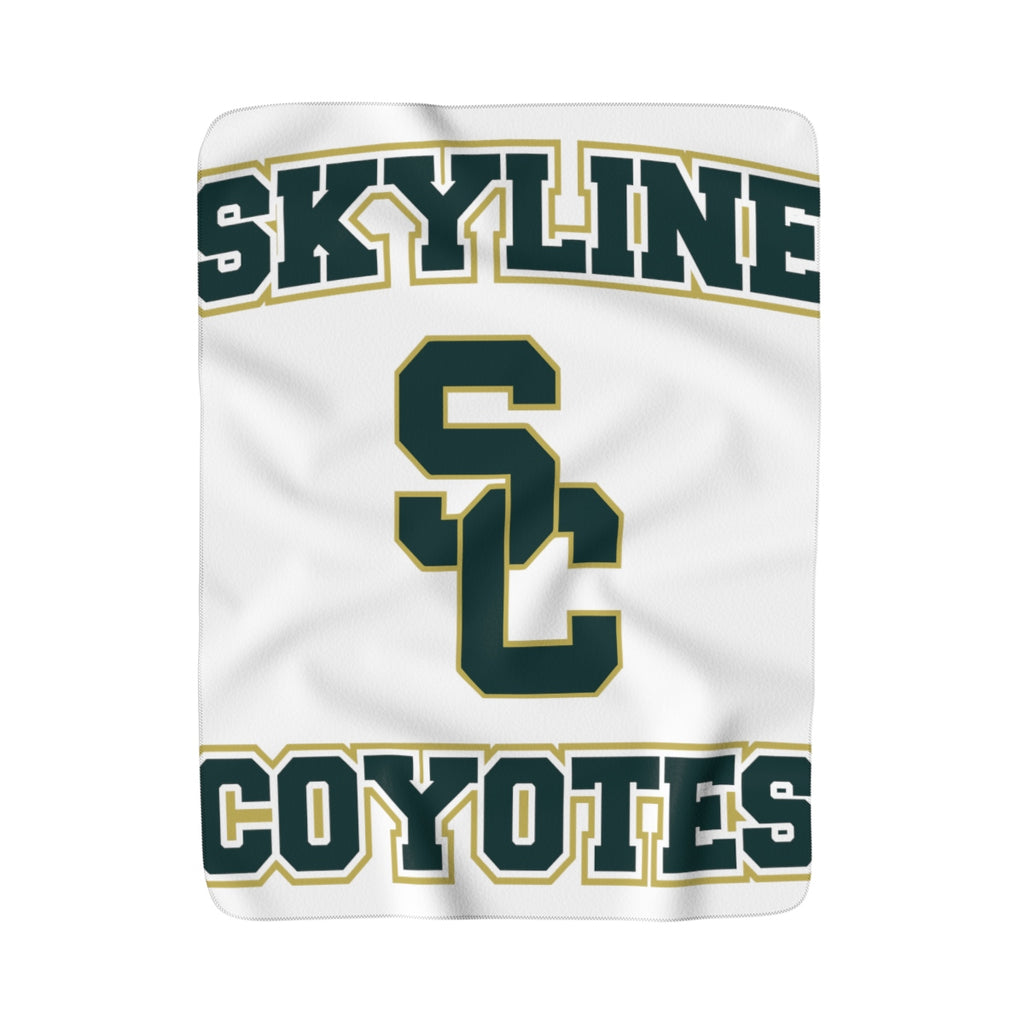 skyline fleece blanket