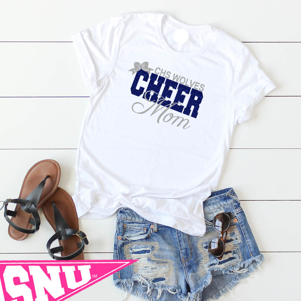 custom name cheer mom