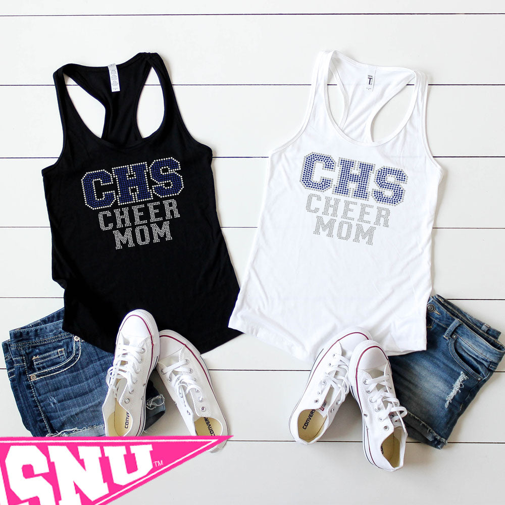 custom cheer mom (bling)