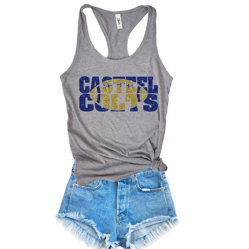 casteel colts racerback tank