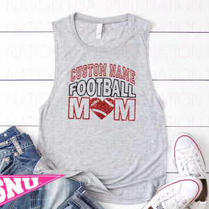 custom football squad mom (pick design colors)