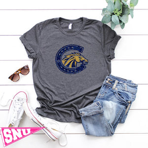 "casteel ""horseshoe"" colts boyfriend tee"