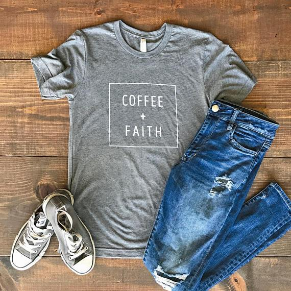 coffee & faith boyfriend tee