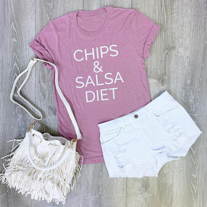 chips & salsa diet boyfriend tee