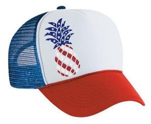pineapple fourth of july hat
