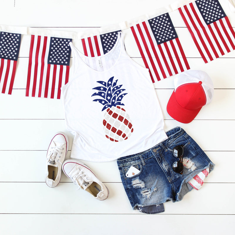 pineapple fourth of july tank
