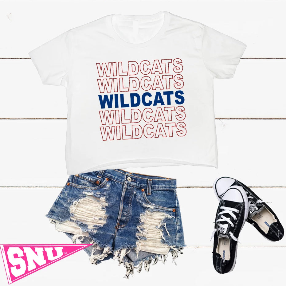 arizona wildcats crop tee