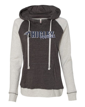 higley knights ladies hoodie with player name on sleeve