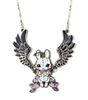 Silvery Angel Bunny Necklace
