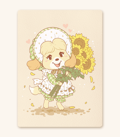 Animal Crossing Isabelle Textured Print