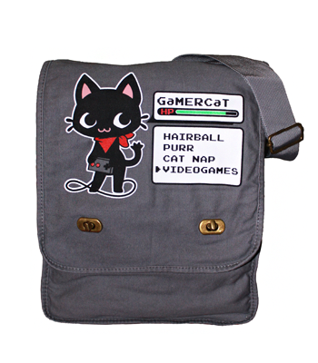 GaMERCaT Stats Messenger Bag