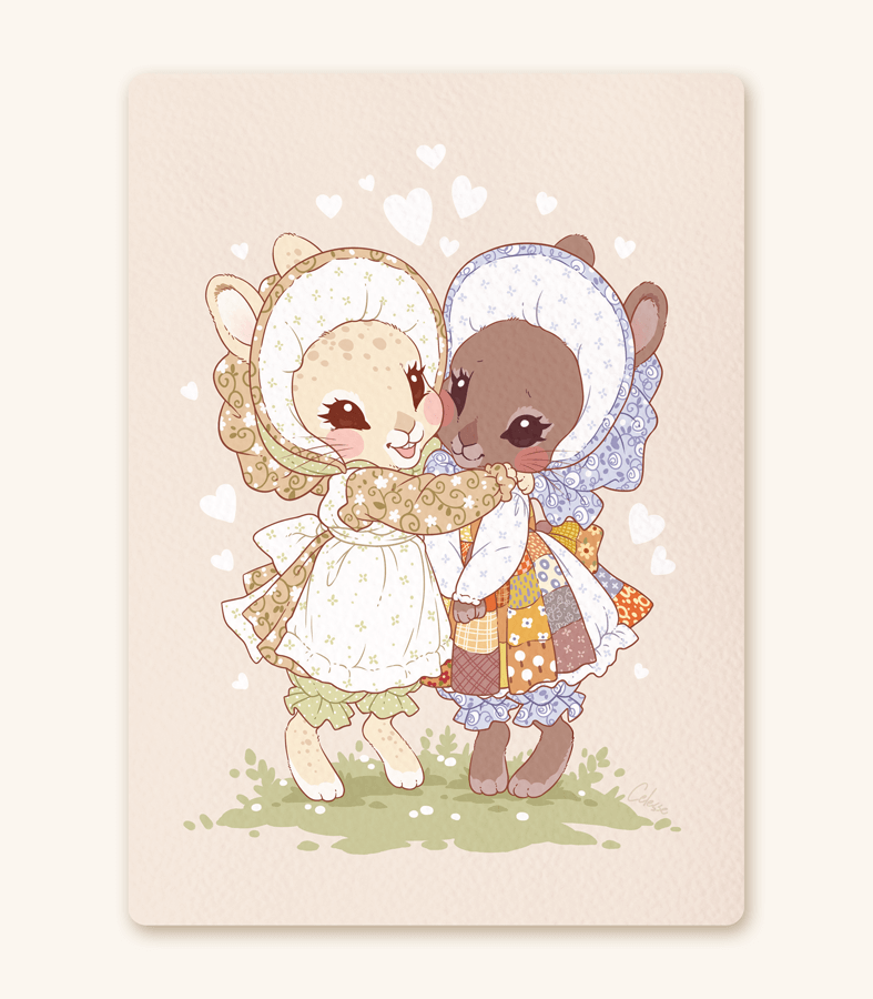 Best Bunny Buds textured print