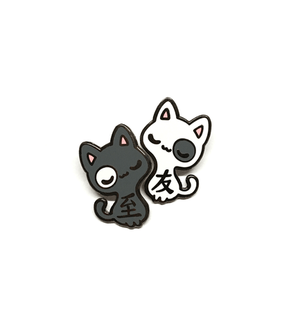 """Best Friends"" Cats Enamel Pin Set"