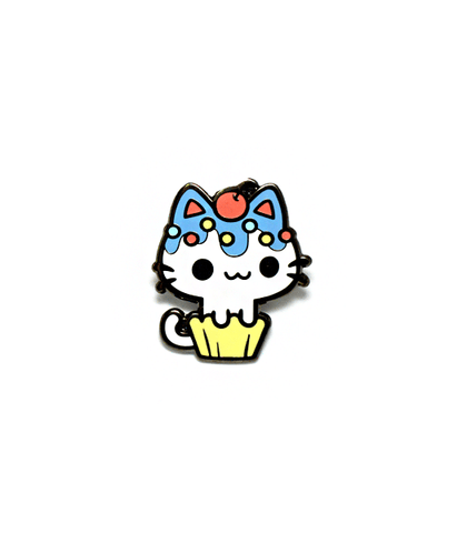 Blueberry Cupcake Kitty Enamel Pin