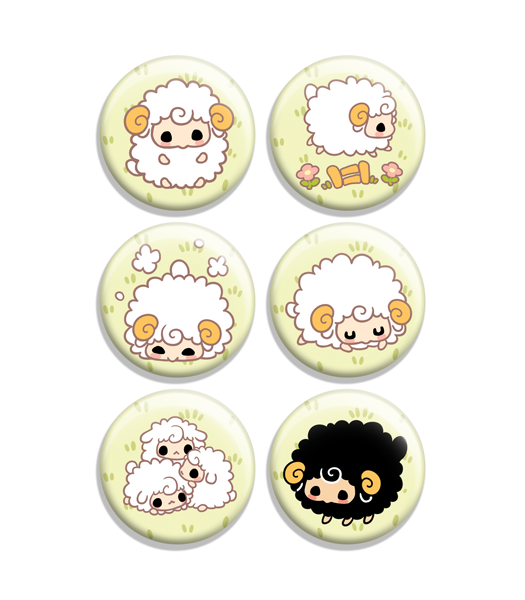 Fat Sheep Button Set