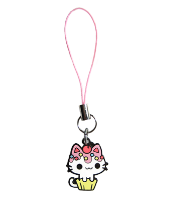Vanilla Cupcake Kitty Charm