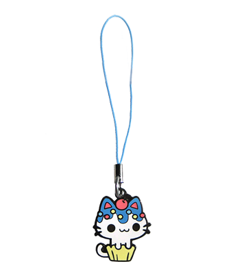 Blueberry Cupcake Kitty Charm