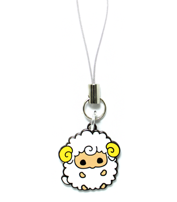 Fat White Sheep Charm
