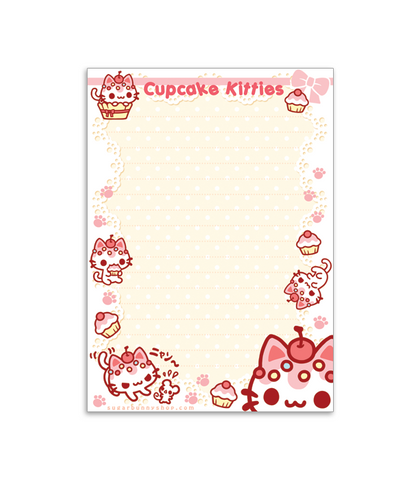 Cupcake Kitties memo pad