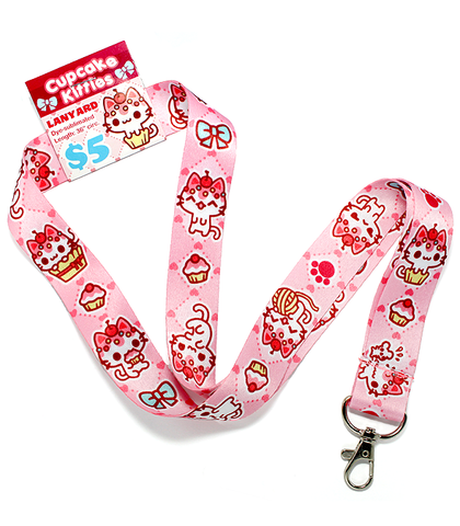 Cupcake Kitties Lanyard
