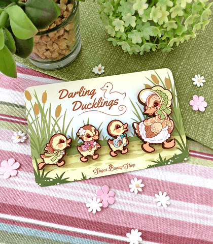 Darling Duckings Wood Pins