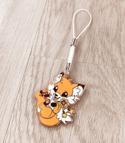 Doki Fox Bouncy Enamel Charm