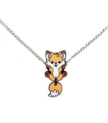 Doki Fox Dangle Necklace