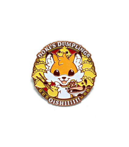 Doki Fox Dumplings Enamel Pin