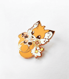 Doki Fox enamel pin